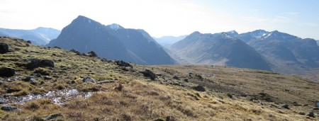 The glen Coe mountains from Beinn a' Chrulaiste