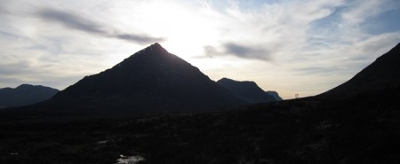 The Buachaille, evening
