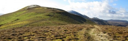 From Turnhouse Hill - the route ahead