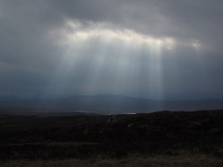 Heavy skies over Rannoch Moor, wednesday morning