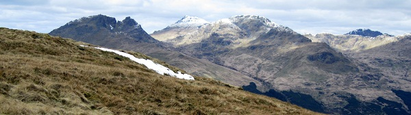 The Arrochar Alps from Tullich Hill