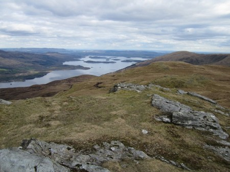 Loch Lomond from the summit of Beinn Bhreac