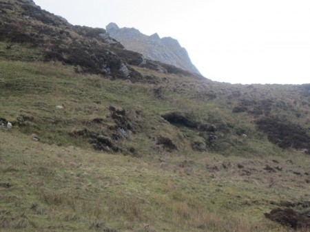 Rough ground below Ben Loyal