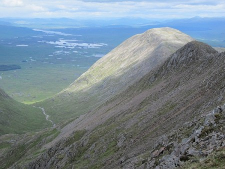 'Towards Rannoch Moor from near the summit'