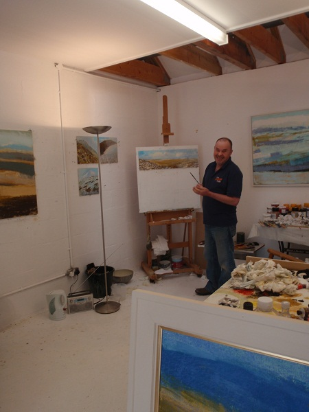 Keith in his WASPS studio, Irvine