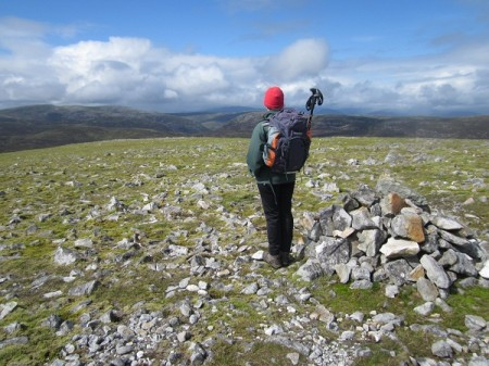 Nita at the summit of Carn a_ Gheoidh