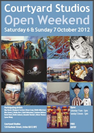 Open Weekend 2012 - Courtyard Studios - Irvine, Ayrshire