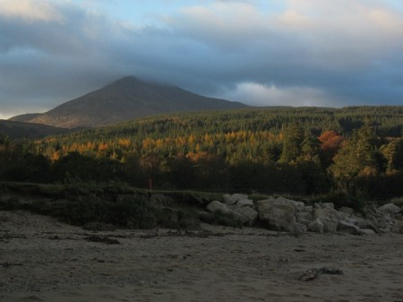 Goat Fell from the beach, late afternoon