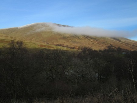 Mist breaking around Beinn Dubh, Luss Hills