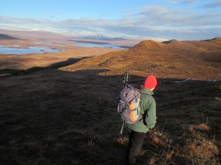On the ridge to Ghlas Beinn