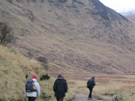 Heading into Glen Rosa