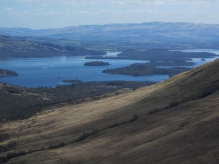 Loch Lomond from the slopes of Beinn Eich