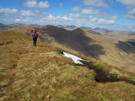 The perfect lunch spot ...the summit of Beinn Eich
