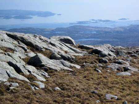 Looking south from one of the low hills on Harris