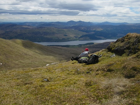 The perfect lunch spot near the summit of Meaall Corranaich