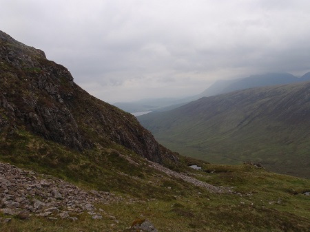 On the steep slopes of Meall Teibh