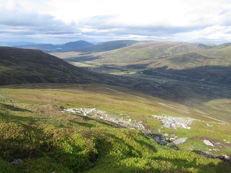 Overlooking the Drumochter Pass, evening