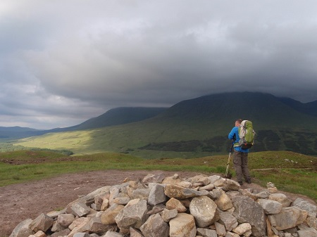 Enjoying the views from the West Highland Way