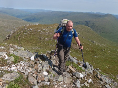At last ....almost at the top of Creag Mhor