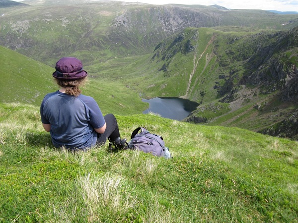 The perfect lunch spot ..above Loch Kander, the Glen Shee Hills