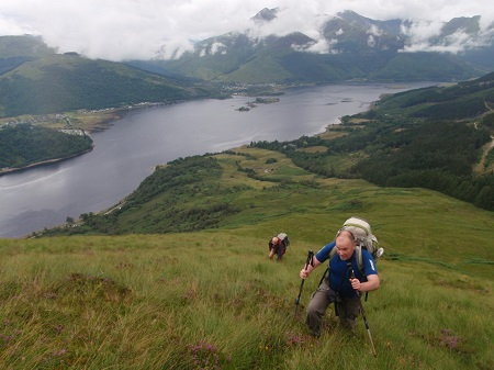 On the steep slopes of Mam na Gualainn