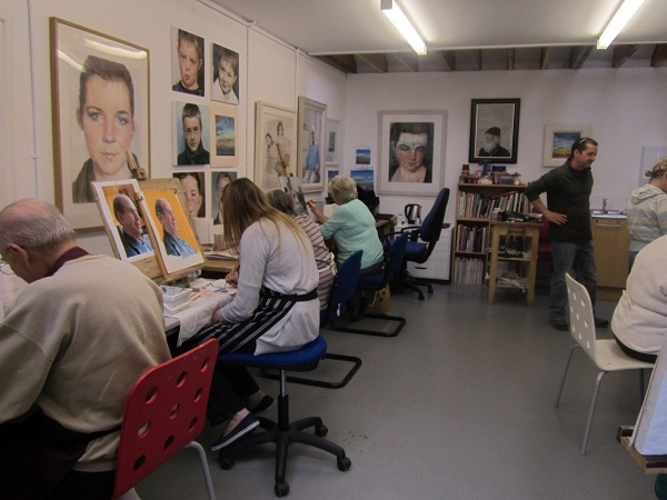 David Reid, Studio G, Portrait painting class