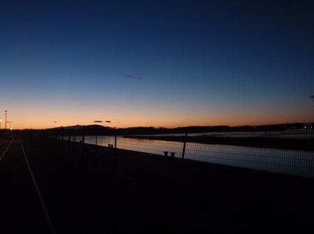 ' A cold evening - Irvine harbour side'