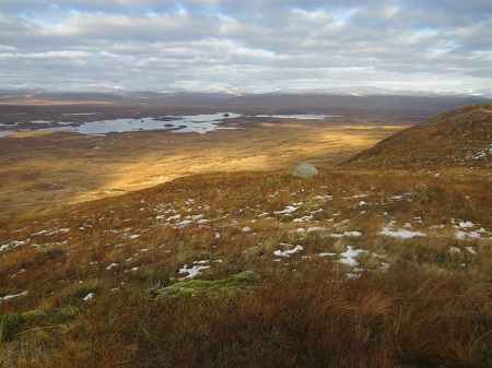 First brightness over Rannoch Moor