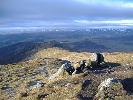 North from the summit of Ben Vrackie, December 12 2005