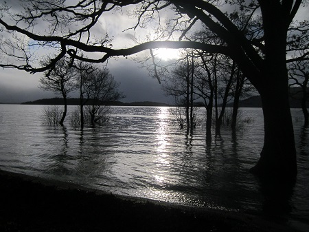 A rather full Loch Lomond