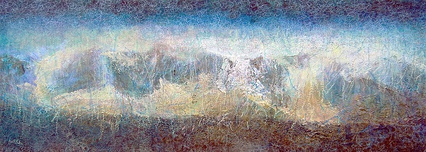 'Towards the Lawers group', Acrylic and Pastel, 2006, 91.5 x 34 cm, sold_1