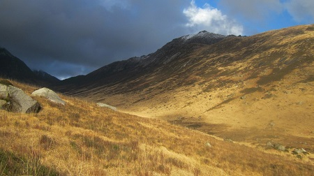 Goat Fell from glen Rosa ...approaching shower