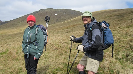 My two hill guides, Nita and Guy ....wouldn't be on the hills without them!