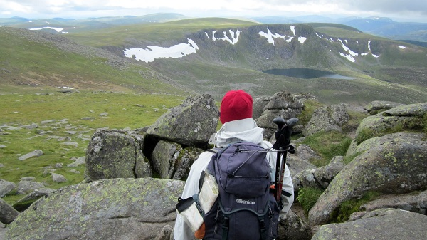 At the summit of Lochnagar