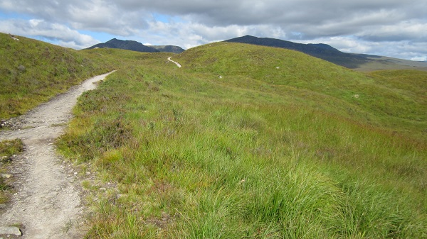 On the West Highland Way, above Loch Tulla
