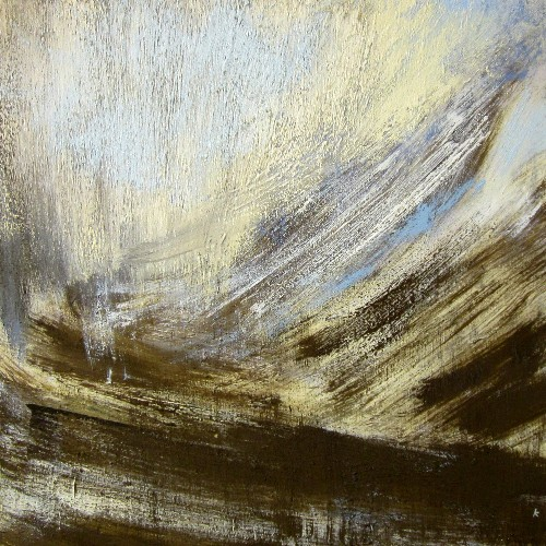 'Below Clach Lethaidh, winter', Oil on canvas, 80 x 80 cm