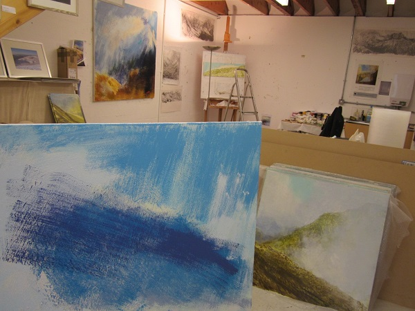 Starting the pre Open Studios Weekend tidy-up!