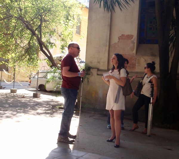 On the initial tour of the Matarazzo Hospital exhibition