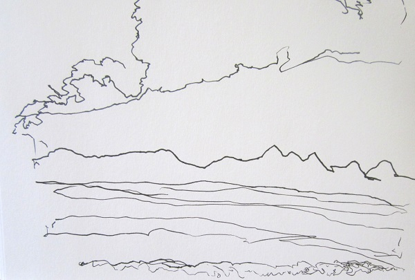 'Sutherland sketch, towards Ben Loyal', Pen, 2012, 210 x 148 mm