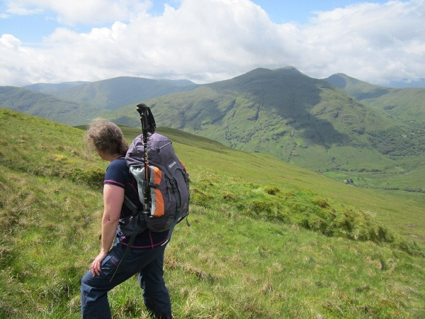 On the steep slopes of  Beinn Bhreac near Loch Lomond