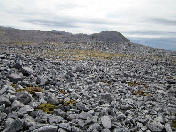 The rocky landscape of Conival and Ben More Assynt