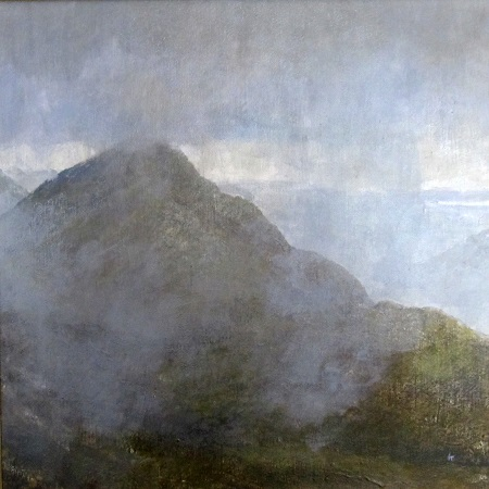 'Breaking mists on Mam na Gualainnt', on display at the North Ayrshire Open Art Exhibition
