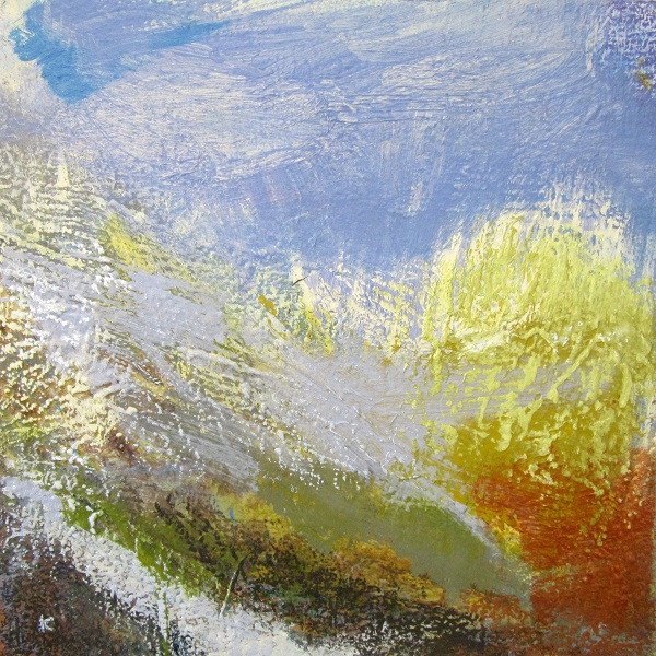 2015, 'Winter afternoon, the Luss Hills' Acrylic & Pastel, 2015, 30 x 30 cm