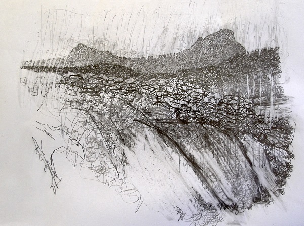 Drawing of Suilven & Canisp